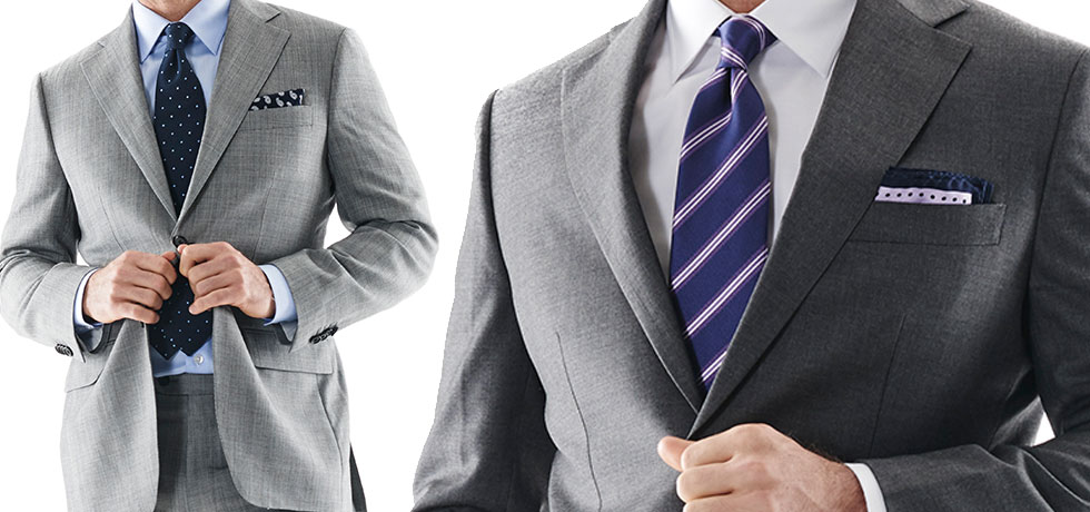 Grey Suits and accessories