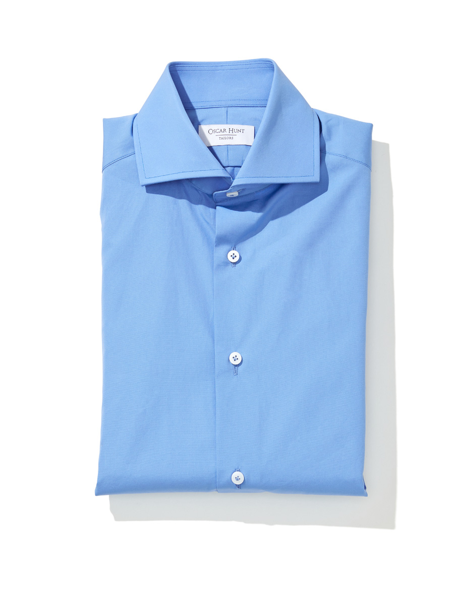 Cornflower blue cotton poplin